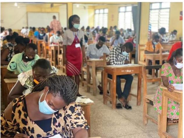 Teachers writing NTC licensure examination