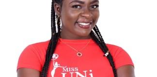 Forgive Adzakpa, a contestant of the 2021 Miss UNI international