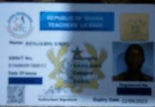 Sample NTC License for teacher