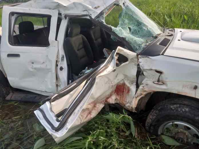 The accident vehicle