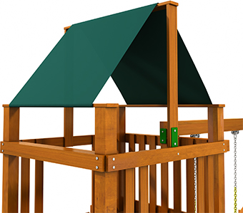 Swing Set Canopy Single Color Covering Fun