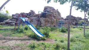 Play area at Oravakallu Rock Garden