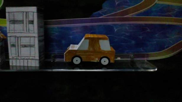 3D car made by kiddo