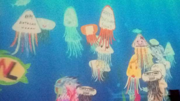 Birthday wishes on jellyfishes :)