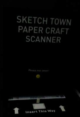 Sketch town paper craft scanner