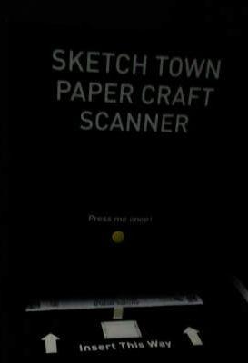 Sketch town paper craft scanner
