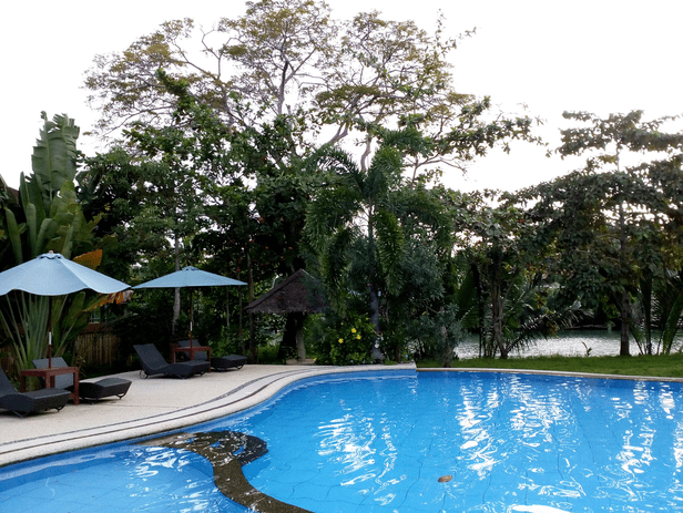 Pool with the river view