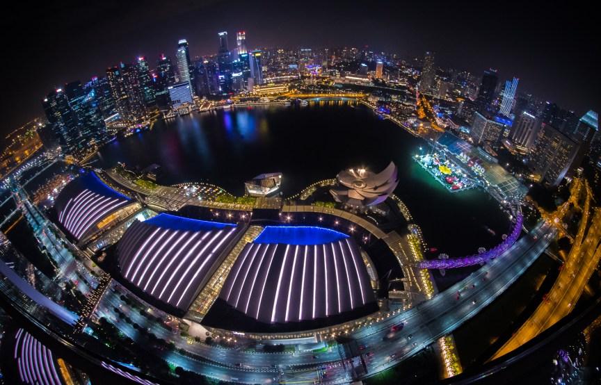 Singapore Skyline- Photo courtesy Antara Sharma - https://magentahues.com/