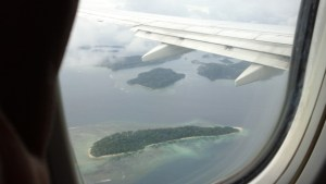 Andaman islands seen from the flight