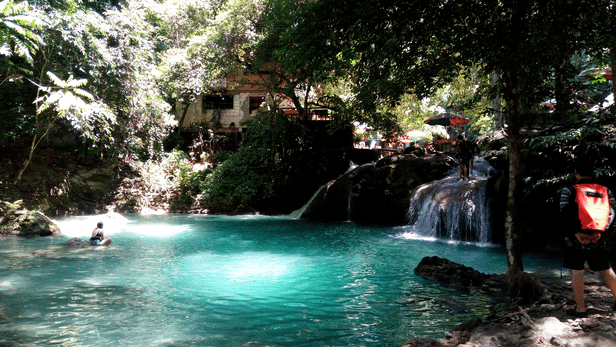Somewhere between Level 1 and 2, Kawasan Falls
