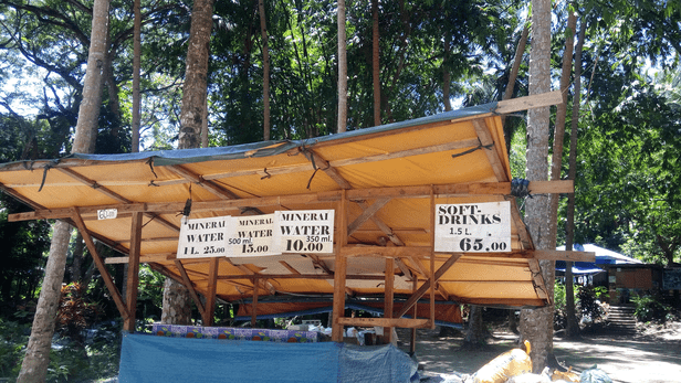 Drinking Water at Kawasan Falls: 25 peso for 1 lt, 15 peso for 500ml.
