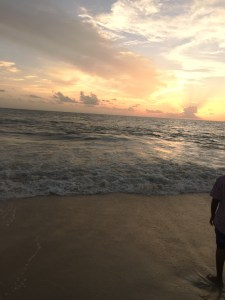 Sunset at the Alleppey beach