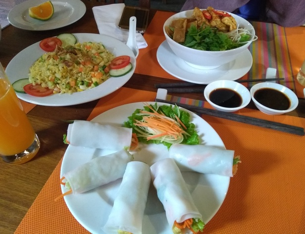 food at Streets restaurant, Hoi An