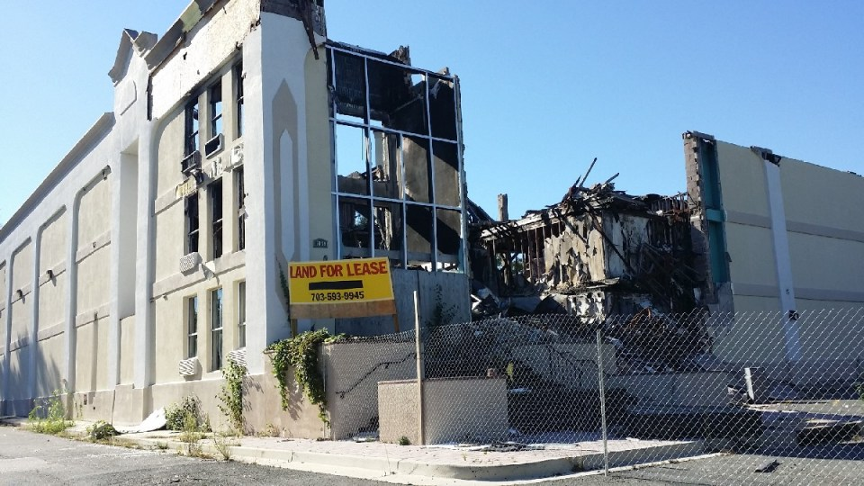 Burned hotel
