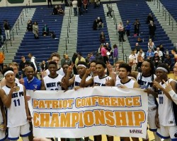West Potomac players and coaches