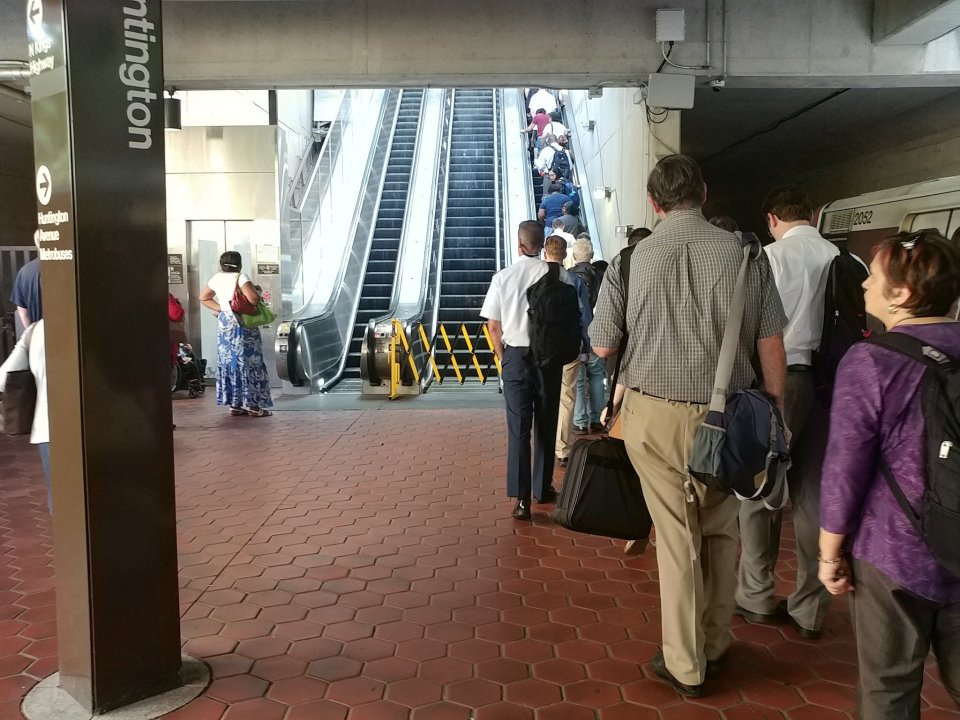 Huntington escalator line