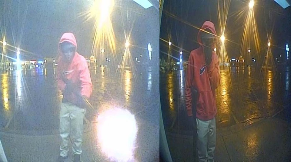 Person on security camera