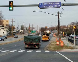 Quander Road intersection