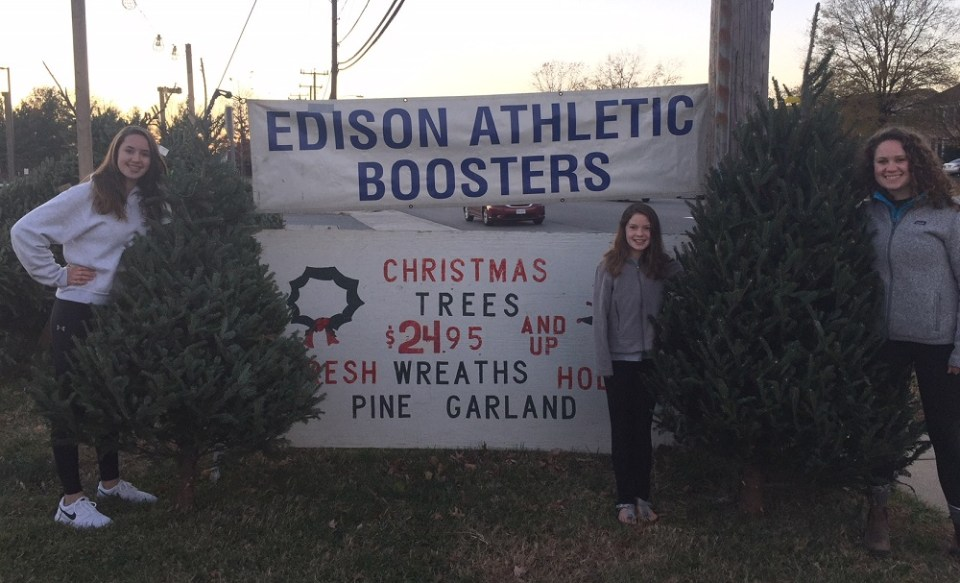 Edison tree sale sign