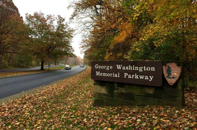 GW Parkway sign