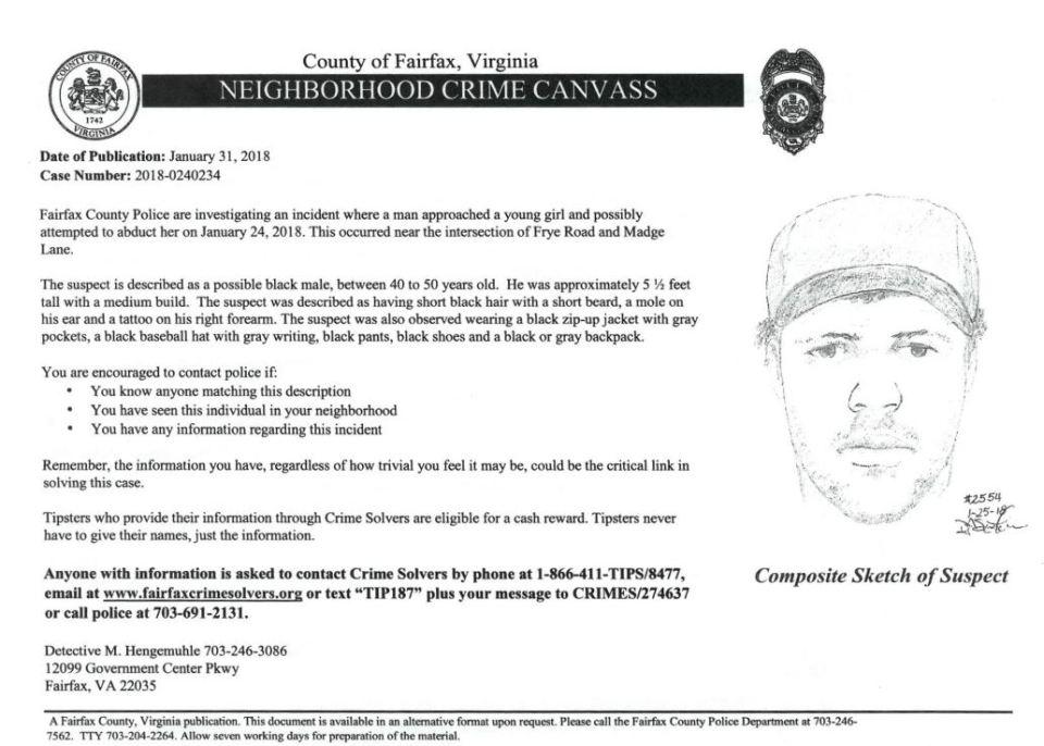 Police flyer