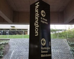 Huntington station sign