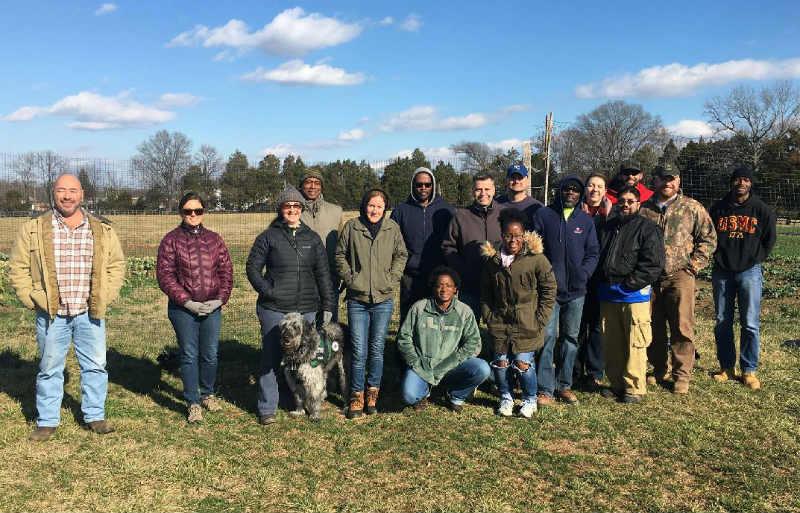 Group of veterans at Arcadia
