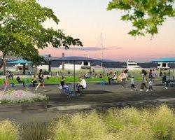 rendering of park
