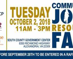 Graphic with job fair information