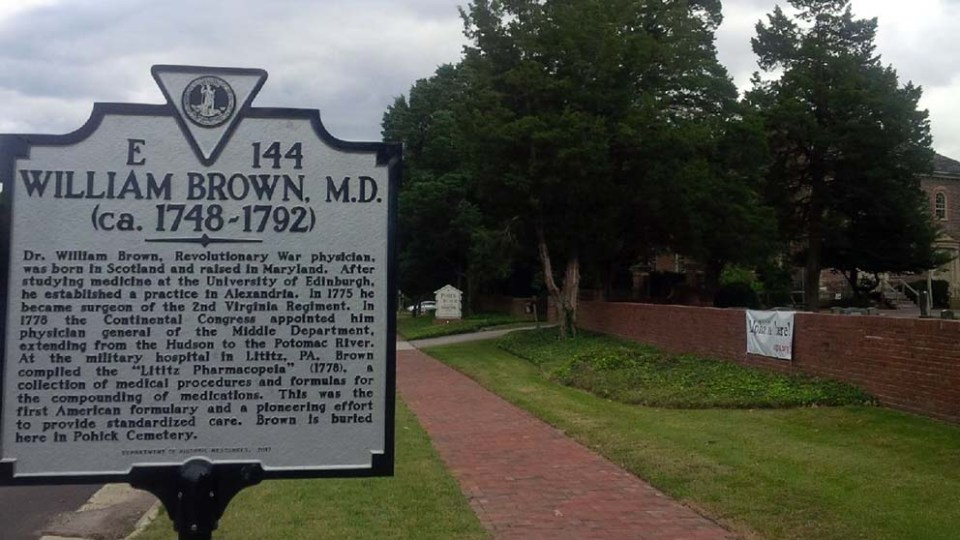 William Brown sign