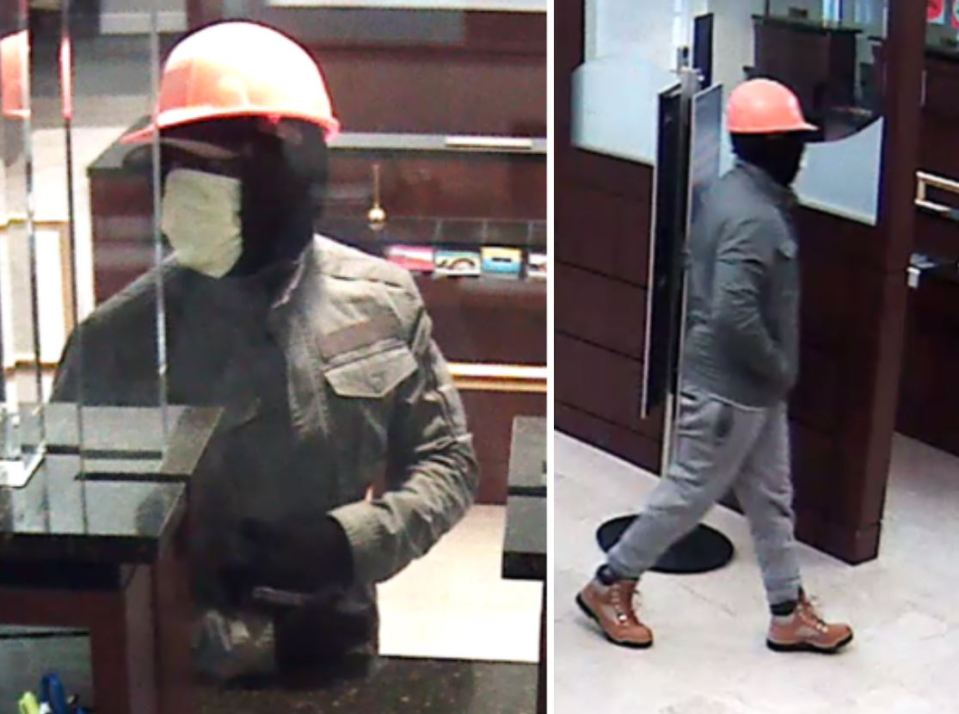 Security images of suspect in Dec. 10 robbery.