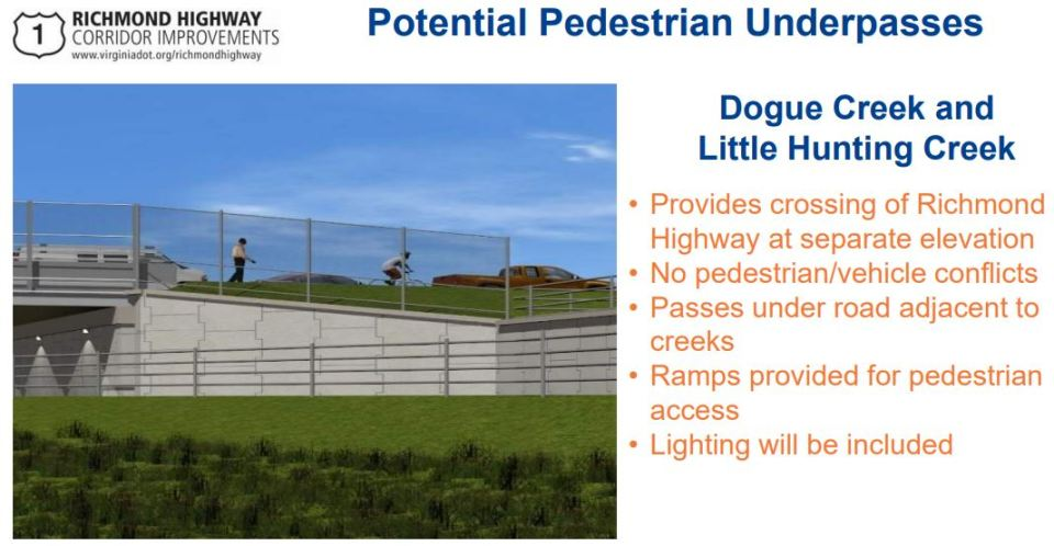 Image from VDOT slide showing underpass