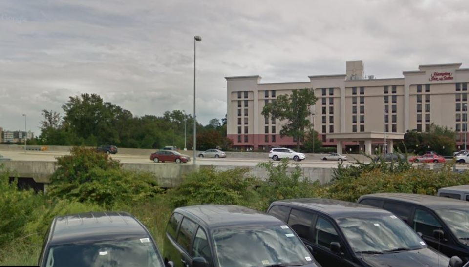 Google images of Ourisman property looking across Route 1