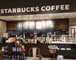 Interior of Starbucks