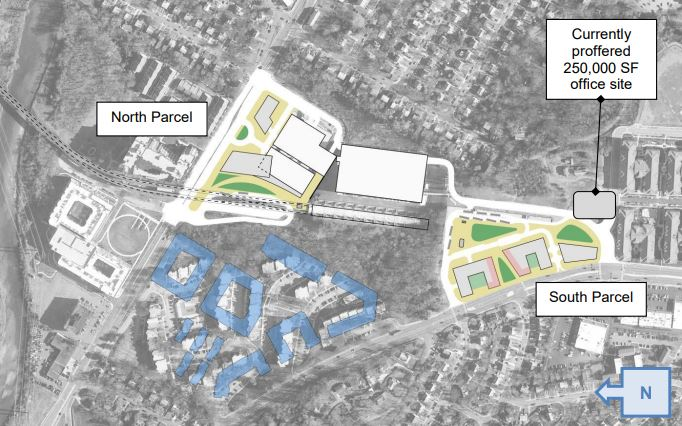 Illustration of one possible site plan for parcels