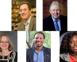 Headshots of five candidates