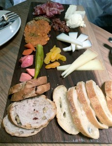 charcuterie board on a table