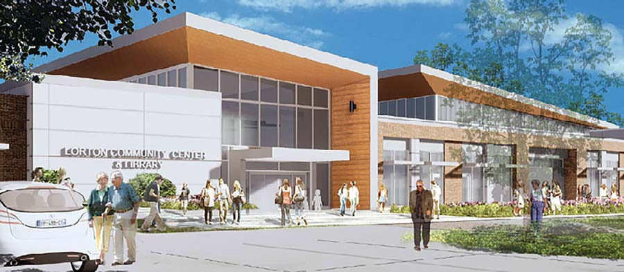 Rendering of completed library