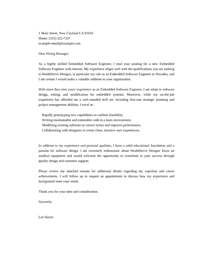 qa engineer resume cover letter template for qa engineer ...