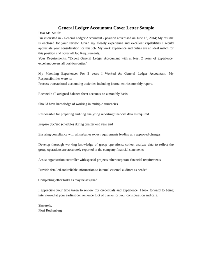 accounting cover letter job application