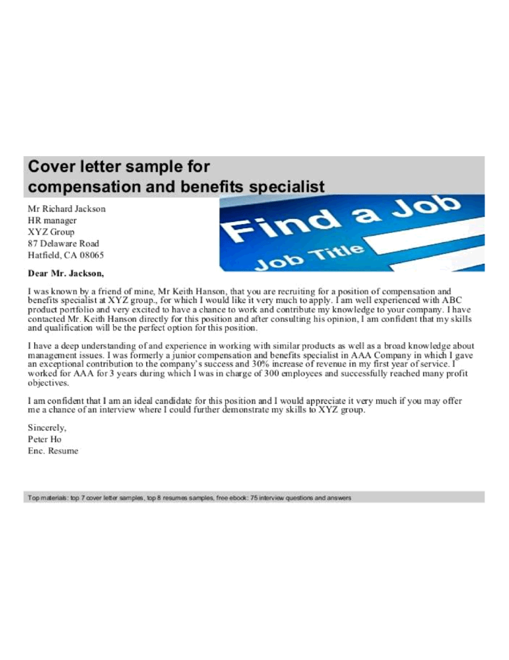 Cover letter asset management position