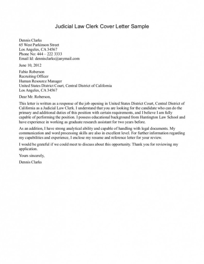 Paralegal Cover Letter With No Experience Sle