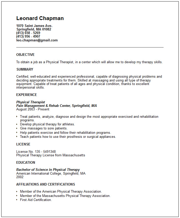 occupational therapist resume samples therapy resume sample job sample occupational therapy resume