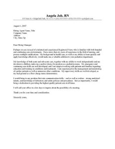 RN Cover Letter Template 1