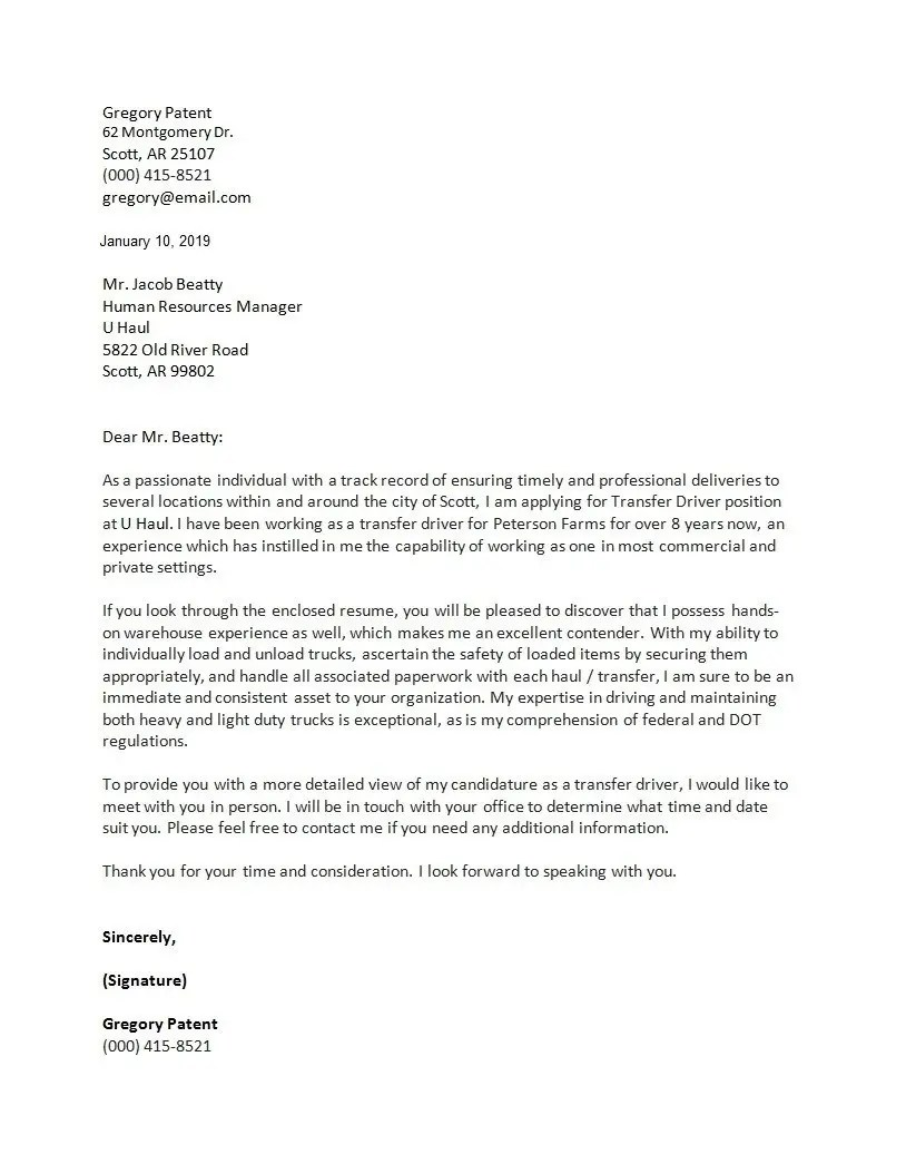 The Best Cover Letter Template For 2020 Clr