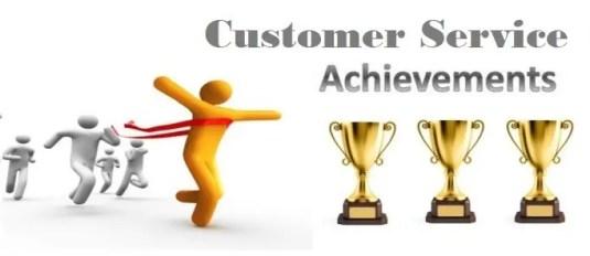 Customer Service Achievements Page Header
