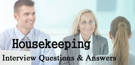 Housekeeping Interview Page Image