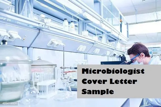 Microbiologist Cover Letter Sample Page Image