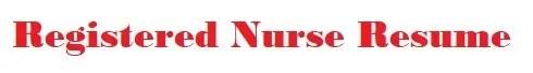 Registered Nurse Resume Logo