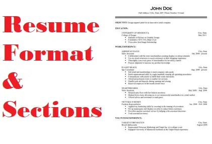 Resume Format and Sections